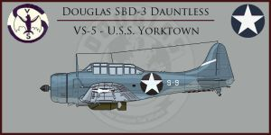 SBD-3 Dauntless VS-5 by Grevinsky79