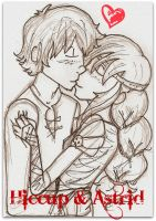 Hiccup and Astrid Kiss by Disney-Sarah
