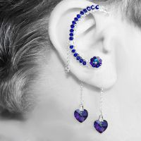 Iridescent Heliotrope Ear Wrap v6- SOLD by YouniquelyChic