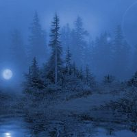 MoonRise-Mountain-Stock by Spazz90