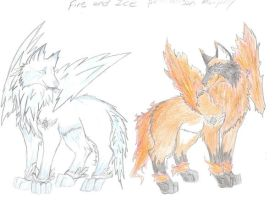 Fire and Ice by lunafox90