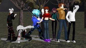 MMD Creepypasta Crossover Shadelock + The Seer? by Stormtali