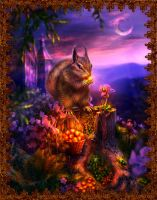 Squirrel of Pushkin's fairy tales of Tsar Saltan by Poglazovs