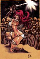Red Sonja Skull Cave by DOCGOOSE