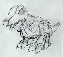 Superdeformed Grimlock sketch by EmeraldBeacon