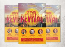 City Wide Revival Church Flyer Template by loswl