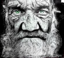 hyperrealism my drawing old man by pitohdark