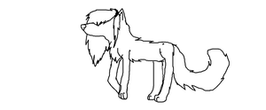 free scene wolf lineart by 6LITCH-TH3-W01F
