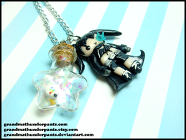BRS + Many Colored Bird Necklace by GrandmaThunderpants