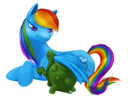 Rainbow and Tank by bloominglove