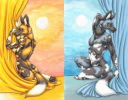 Sun and Moon by sidian