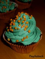 Cupcakes with bubble gum flavour for halloween (3) by nikinik666