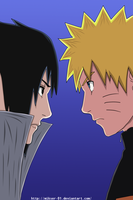 Naruto 485: Naruto and Sasuke by GoLD-MK