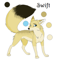 Swift the Fox ref. sheet: Used a Base by ScottishRedWolf
