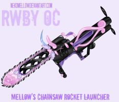 Chainsaw Rocket Launcher - RWBY OC Weapon by NekoMellow