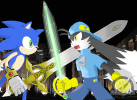 SwordsDuel Sonic vs Klonoa by Hanimetion