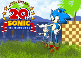 Happy 20th Sonic the Hedgehog by epidemic-freakhound