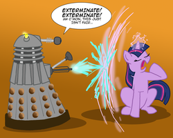MLPFIM: Pony vs. Dalek 2 -- Twilight Sparkle by the-gneech