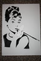 audrey hepburn by whitedenim