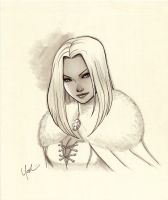 White Queen Marker Sketch by Protokitty