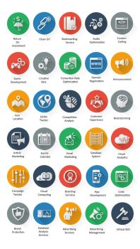Icons - SEO and Web Icons | FlatLineIcons.com by CURSORCH