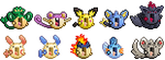 pokemon la emoticons group 2 by Kimi133