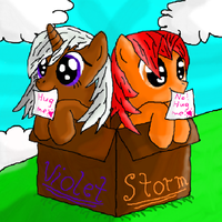 Commission: Violet and Storm as fillies by MrDragonboy96