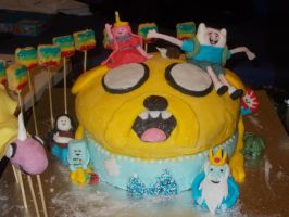 Adventure Time cake 2 by LeslieProngue