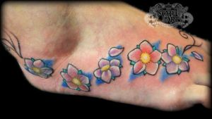 Cherry Blossom on foot by state-of-art-tattoo