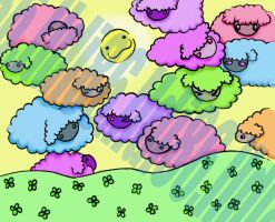 sheep clouds request by Pumpkin-Queen-Ildi