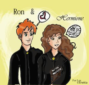 cool harry hermione harry ginny awesome ron hermione lavenderchills