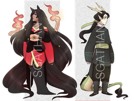 :AUCTION OPEN 1/2 - CLOSED: Orient Spirits by SgathanAdopts