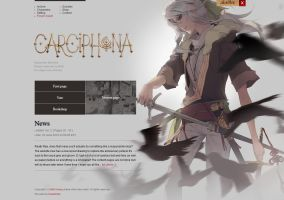 Carciphona website layout by shilin