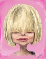 Female caricature 032009 by Hleix