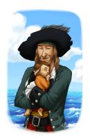 Barbossa and his little Vicky by Loren-Farlow