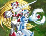 Megaman X and Zero by K-A-A-D