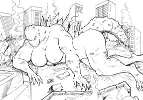 Lady Godzilla by wyattx