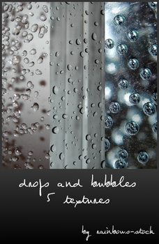 drops and bubbles textures by rainbows-stock