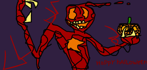Carnage bids you a happy Halloween... by TheUltimateSpiderFan