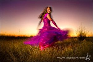 Spinning Purples and Pinks by jakegarn