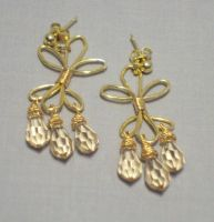 Golden Flourish Earrings by ACrowsCollection