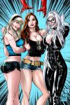 3 girls from Marvel Colored by eHillustrations