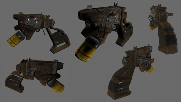 Fallout 4: the Zappah! pistol by WarMocK