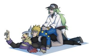 A pile of pokeboys by wildragon