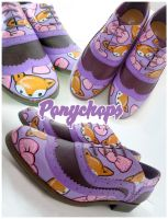 Purple Foxy Brogues by ponychops