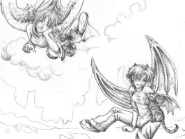 Sketchy angles and demons by Mayta