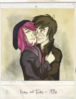 Polaroid of Remus and Tonks by blindbandit5