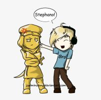 Pewdiepie and Stephano by JunMinseung