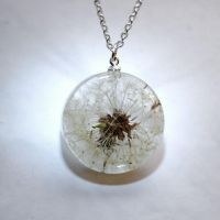 One True Dandelion Necklace by junmoore