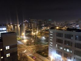 Newark at Night by towerpower123